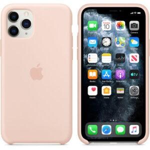 Чехол силиконовый оригинальный iPhone 11 Pro Silicone Case – Pink Sand (MWYM2) - ТвойGadget