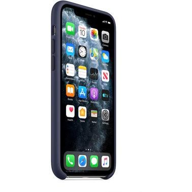 Чехол силиконовый оригинальный iPhone 11 Pro Silicone Case – Midnight Blue (MWYJ2) - ТвойGadget