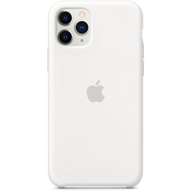 Чехол силиконовый оригинальный iPhone 11 Pro Silicone Case – White (MWYL2) - ТвойGadget