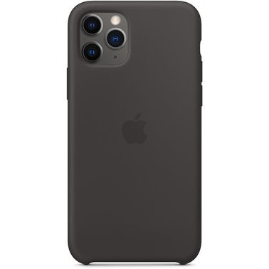 Чехол силиконовый оригинальный iPhone 11 Pro Silicone Case – Black (MWYN2) - ТвойGadget