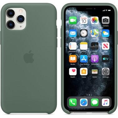 Чехол силиконовый оригинальный iPhone 11 Pro Max Silicone Case – Pine Green (MX012) - ТвойGadget