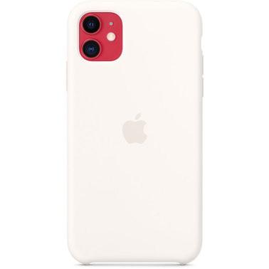 Чехол силиконовый оригинальный iPhone 11 Silicone Case – White (MWVX2) - ТвойGadget