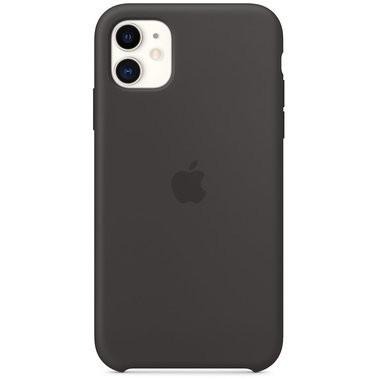 Чехол силиконовый оригинальный iPhone 11 Silicone Case – Black (MWVU2) - ТвойGadget