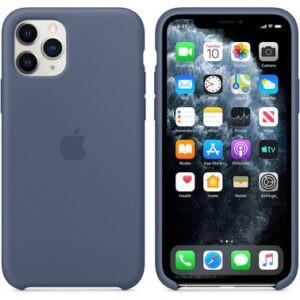 Чехол силиконовый оригинальный iPhone 11 Pro Silicone Case – Alaskan Blue (MWYR2) - ТвойGadget