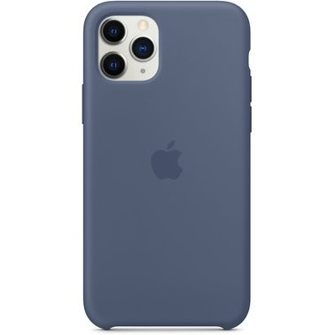 Чехол силиконовый оригинальный iPhone 11 Pro Max Silicone Case – Alaskan Blue (MX032) - ТвойGadget