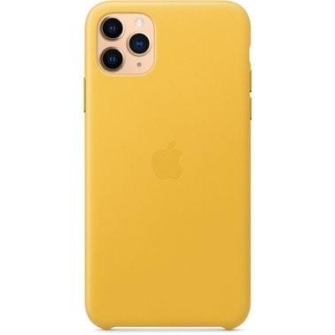 Чехол кожаный оригинальный iPhone 11 Pro Max Leather Case – Meyer Lemon (MX0A2) - ТвойGadget