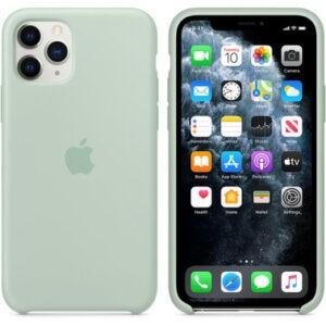 Чехол силиконовый оригинальный iPhone 11 Pro Silicone Case – Beryl (MXM72) - ТвойGadget