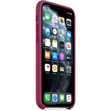 Чехол силиконовый оригинальный iPhone 11 Pro Silicone Case – Pomegranate (MXM62) - ТвойGadget