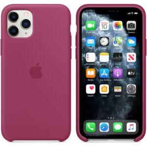 Чехол силиконовый оригинальный iPhone 11 Pro Max Silicone Case — Pomegranate (MXM82) - ТвойGadget