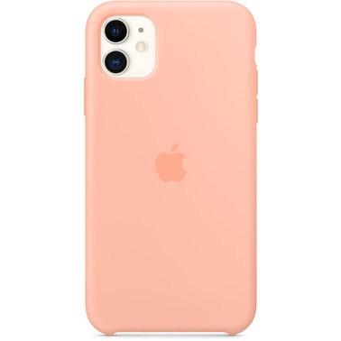 Чехол силиконовый оригинальный iPhone 11 Silicone Case — Grapefruit (MXYX2) - ТвойGadget
