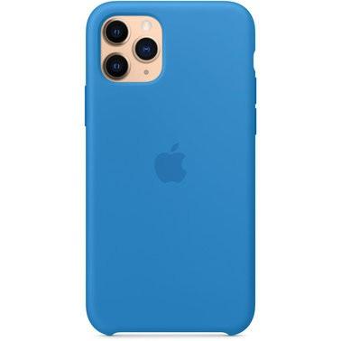 Чехол силиконовый оригинальный iPhone 11 Pro Max Silicone Case – Surf Blue (MY1J2) - ТвойGadget