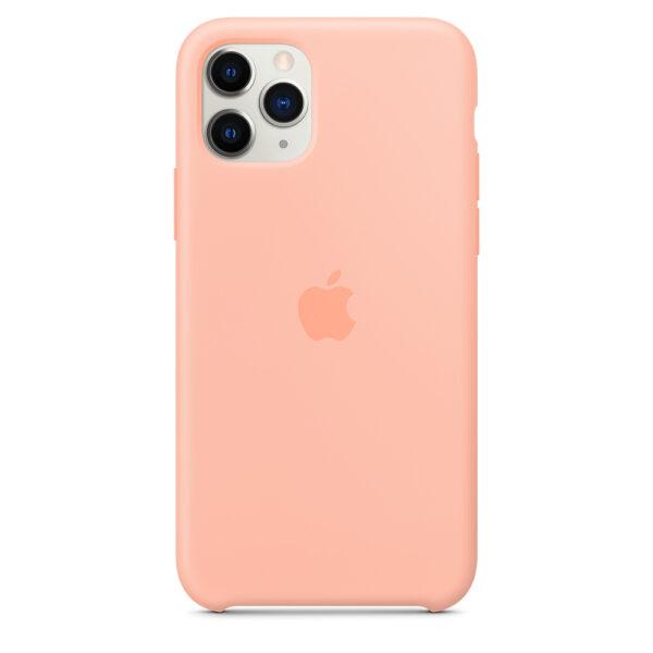 Чехол силиконовый оригинальный iPhone 11 Pro Max Silicone Case — Grapefruit (MY1H2) - ТвойGadget