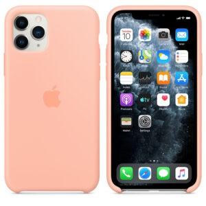 Чехол силиконовый оригинальный iPhone 11 Pro Silicone Case – Grapefruit (MY1E2) - ТвойGadget