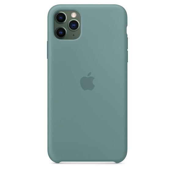 Чехол силиконовый оригинальный iPhone 11 Pro Max Silicone Case – Cactus (MY1G2) - ТвойGadget