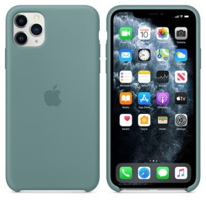 Чехол силиконовый оригинальный iPhone 11 Pro Max Silicone Case — Cactus (MY1G2) - ТвойGadget