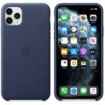 Чехол кожаный оригинальный iPhone 11 Pro Max Leather Case – PRODUCT RED (MX0F2) - ТвойGadget