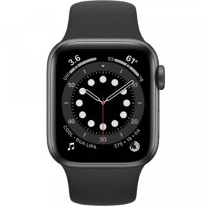 Apple Watch Series 6 GPS, 44mm, Space Gray Aluminum Case w. Black Sport B. (M00H3) - ТвойGadget