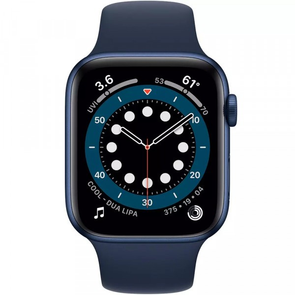 Apple Watch Series 6 GPS 40mm Blue Aluminum Case w. Deep Navy Sport B. (MG143) - ТвойGadget