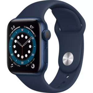 Apple Watch Series 6 GPS 44mm Blue Aluminum Case w. Deep Navy Sport B. (M00J3) - ТвойGadget
