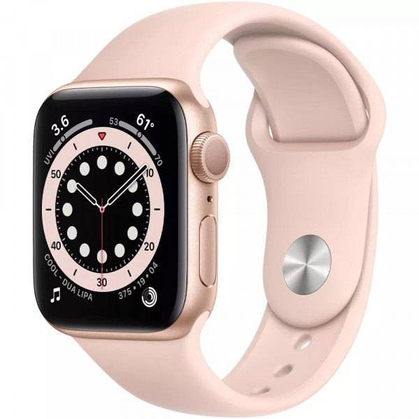 Apple Watch Series 6 GPS 44mm Gold Aluminum Case w. Pink Sand Sport B. (M00E3) - ТвойGadget
