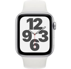 Apple Watch SE GPS 44mm Silver Aluminum Case w. White Sport B. (MYDQ2) - ТвойGadget