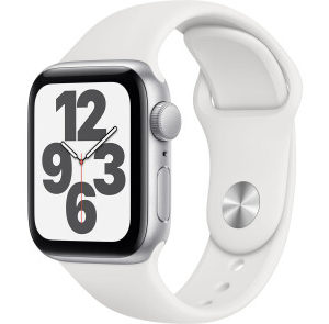 Apple Watch SE GPS 40mm Silver Aluminum Case w. White Sport B. (MYDM2) - ТвойGadget