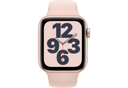 Apple Watch SE GPS 44mm Gold Aluminum Case w. Pink Sand Sport B. (MYDR2) - ТвойGadget