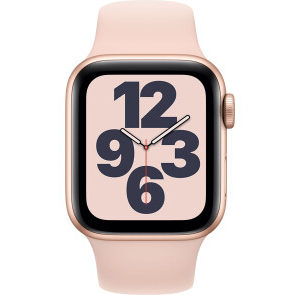 Apple Watch SE GPS 40mm Gold Aluminum Case w. Pink Sand Sport B. (MYDN2) - ТвойGadget