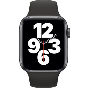 Apple Watch SE GPS 44mm Space Gray Aluminum Case w. Black Sport B. (MYDT2) - ТвойGadget