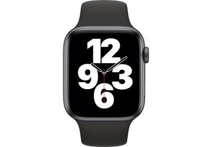 Apple Watch SE GPS 44mm Space Gray Aluminum Case w. Black Sport B. (MYDT2) - ТвойGadget