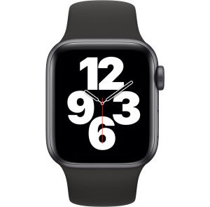 Apple Watch SE GPS 40mm Space Gray Aluminum Case w. Black Sport B. (MYDP2) - ТвойGadget