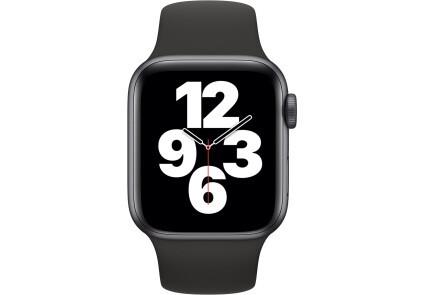 Apple Watch SE GPS 40mm Space Gray Aluminum Case w. Black Sport B. (MYDP2) - ТвойGadget