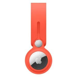 Apple AirTag Leather Loop Electric Orange (MK0X3) - ТвойGadget