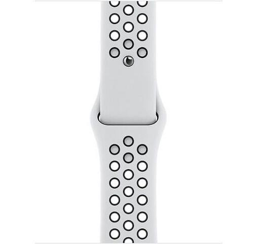 Apple Watch Nike Series 6 GPS 44mm Silver Aluminum Case w. Pure Platinum/Black Nike Sport B. (MG293) - ТвойGadget